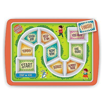 Fred and Friends, CA Dinner Winner Kids Plate, Tray divides food (5132157) CXX