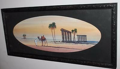 1900's Vintage Antique Water Colour Egyptian Scene Art Deco Original