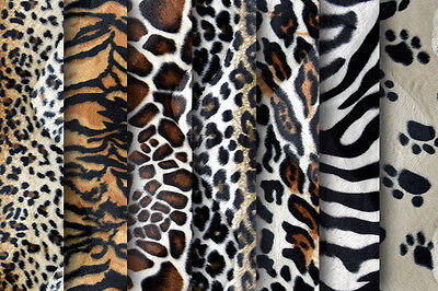 Animal Print Velboa Faux Fur - Quality Soft Velour Fabric