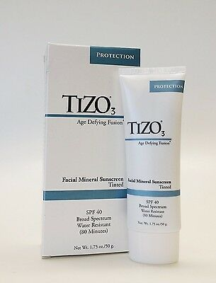 Tizo 3 Facial Mineral Sunscreen Tinted SPF 40,   1.75 oz/50 g ,Fast shipping