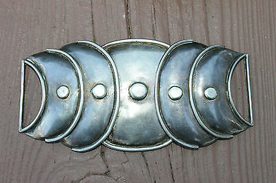 BIG 1940s TAXCO Modernist HECTOR AGUILAR Sterling Silver ARMADILLO BELT Buckle