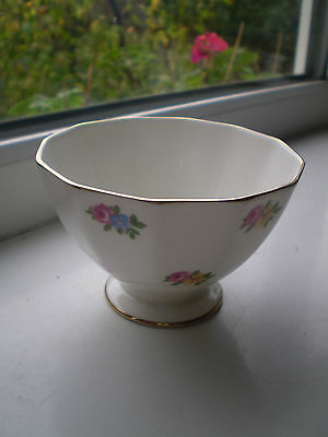 Adderley Ditsy Rose Sugar Bowl Bone China Made In England Vintage British