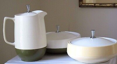 Vintage Retro Atomic Age DINEX Serving dishes and Pitcher -  Thermal plasticware