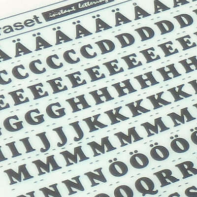 LETRASET Rub On Transfer Lettering Goudy Heavyface Condensed 36pt 8.8mm 2844