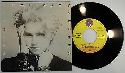 """7"""" Madonna - Holiday ' Rare 45  Vg+* Spanish 1983 Unique Pic Sleeve"""