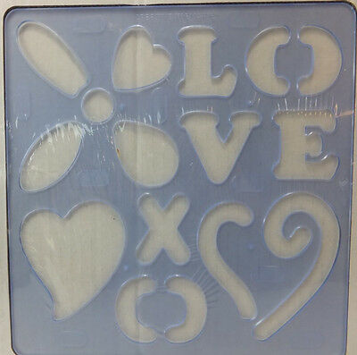 Creative Memories Love Pattern Template Creative Cuts Collection
