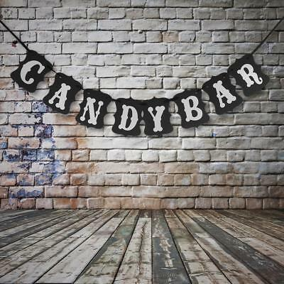2.4M CANDY BAR Sign Bunting Banner Wedding Party Buffet Booth Hanging Decor
