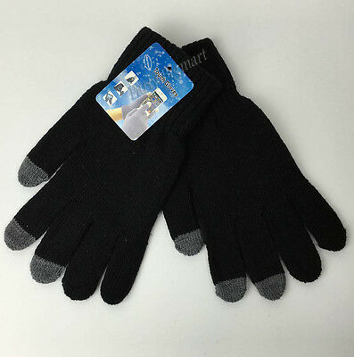 Adult Unisex Magic Touch Screen Gloves Smartphone Tablet Warm Knit Mittens-G6300
