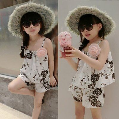 Toddler Kids Baby Girls Outfits Clothes T-shirt Tops Dress+Shorts Pants 2PCS Set