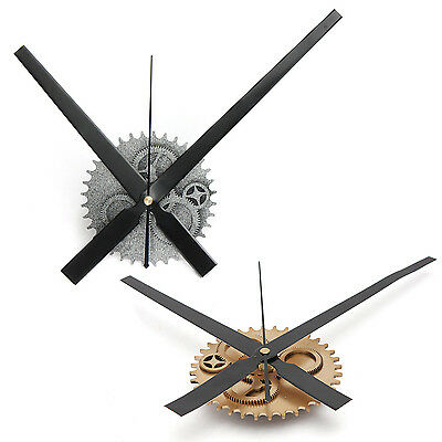 Vintage DIY Mechanism Large Wall Clock Home Living Room Decoration Art Design ED