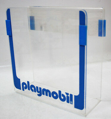 Very Rare Vintage Playmobil Hard Clear Plastic Shop Display Stand For Catalogs !