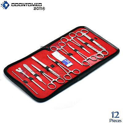 12 Pcs Instrument Surgical Kit Survival Emergency First Aid Military Case
