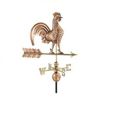 "25"" Copper Rooster Weathervane"