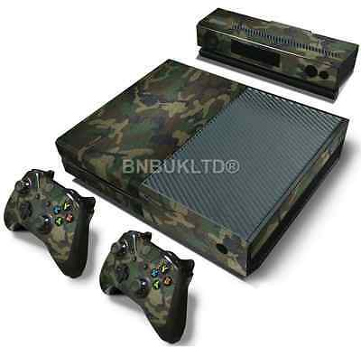 Camouflage Skin Sticker For Xbox ONE Console Controller + Kinect Decal Vinyl