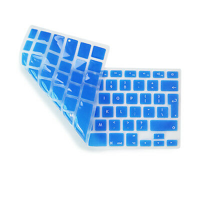 Copritastiera Protettiva Silicone Blu Scuro MacBook Air Pro Retina 13/15 UK-EU