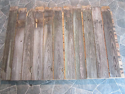 Vintage Wood Picket Fence LOT 9 Boards for craft or display