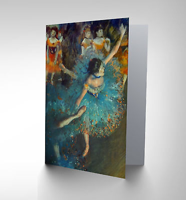 Edgar Degas Dancer Old Master Painting Reproduction Blank Greetings Card Cp1081