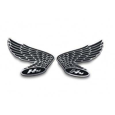 Honda Wings HM Fuel Tank/Side Panel Emblem - Pair - Billet