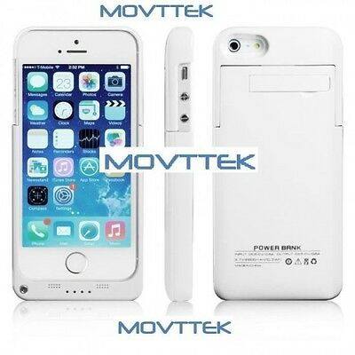 Coque Rechargeable Iphone 5 5S 2200mAh Blanche