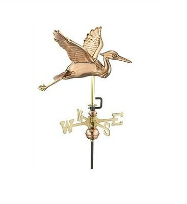 Blue Heron Copper Weathervane