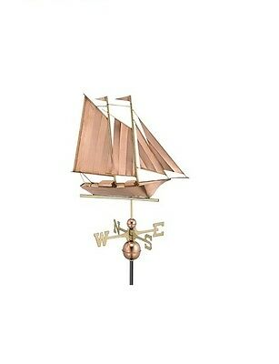 Schooner Copper Weathervane