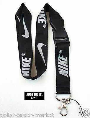 NIKE Silver Lanyard ID Holder Keychain cell phone Fitness - Runners - Sport
