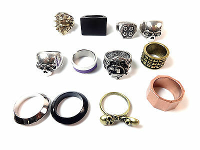 Wholesale Job Lot 50 Mens Chunky Unique Rings Cool Retro Trendy Pieces