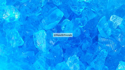 "Turquoise Premium Fire Glass For Pits 1/4""  Made In USA (20lbs)"