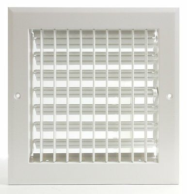 "6w"" x 6h"" ADJUSTABLE AIR SUPPLY DIFFUSER - HVAC Vent Duct Cover Grille [White]"