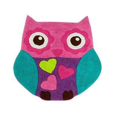 New Girls Owl Pink Purple Turquoise Decorative Rugs 1 Pieces