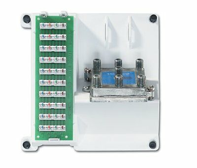 Leviton Compact Series Telephone and 6-Way Video Panel (105-47603-1G6)