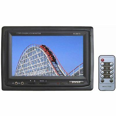 PYLE PLHR76 7-Inch Widescreen TFT/LCD Video Monitor with Headrest Shroud