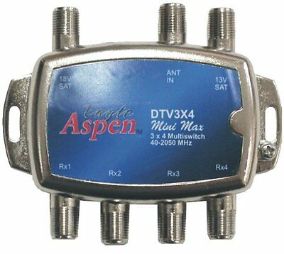 Eagle Aspen DTV3X4 DirecTV-Approved Min Max 3-In/4-Out Multiswitch
