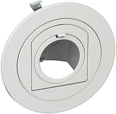Elco Lighting EL1497W 4 Low VoltaTrim with Adjustable Pull Down - White