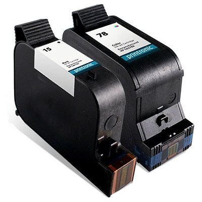 Remanufactured Ink Cartridge Replacement for HP 15 C6615DN HP 78 C6578DN (1 Blac