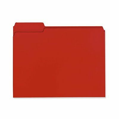 Smead 100% Recycled File Folder, Reinforced 1/3-Cut Tab, Letter Size, Red, 100 p
