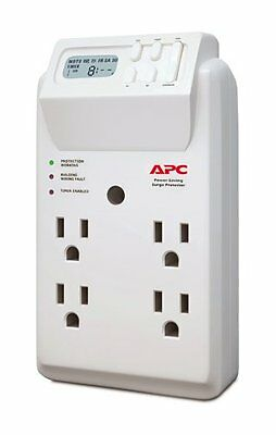 APC P4GC 4 Outlet Wall Tap/120V Power-Saving Timer Essential SurgeArrest