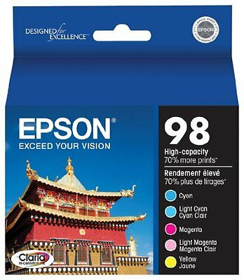 Epson Claria T098920 98 Extra High-capacity Inkjet Cartridge Color Multipack-Cya