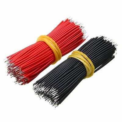 400pcs Black Red Kit Motherboard Breadboard Jumper Cable Wires Set Tinned 6cm