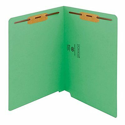 Smead WaterShed/CutLess End Tab Fastener Folder, Reinforced Straight-Cut Ta