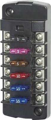 Blue Sea Systems ST Blade 6 Independent Circuit Fuse Block
