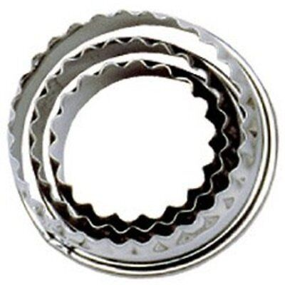 Tala Crinkled Pastry Cutters Stainless Steel Set Of 3 , NEW