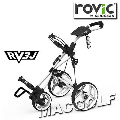 Rovic RV3J Junior 3-Rad Golf Trolley in Arctic Weiss by Clicgear.