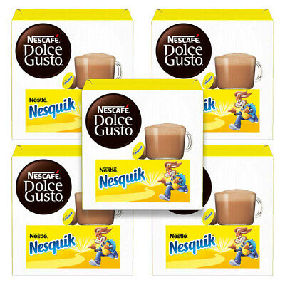Dolce Gusto Nesquik Hot Chocolate Coffee Pods:  1/3/5 X 16 Packs: You Choose,
