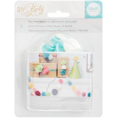 we r memory keepers  d i y party Pom Pom Makers small medium & large 660788