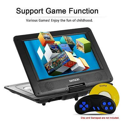 "10.1"" Portable DVD Player Rechargeable Swivel Screen 270° Game SD USB CD TV P2E9"