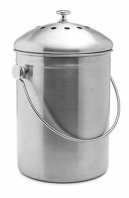 Epica Stainless Steel Compost Bin1.3 Gallon And Charcoal Filter Epica BRAND NEW