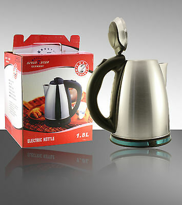 Stainless Steel 2 Litre 2000W Cordless Fast Boil Electric Kettle Jug Filter