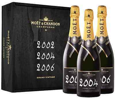 Moet & Chandon Grand Vintage Collection in Black Wooden Gift Box