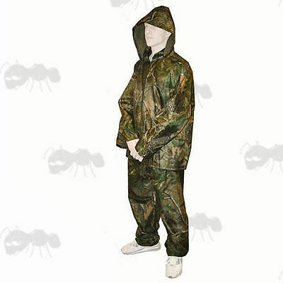 New Carp Fishing/Hunting/Paintball Camo Waterproof Jacket Trouser Rain Suit Set